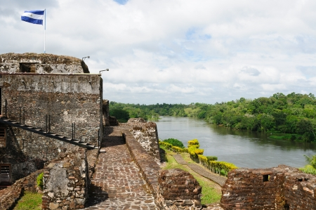 Nicaragua, Spanish defensive fortification in of El Castillo on a river bank San Juan defending the access to the city of Grenada against pirates