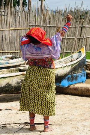 tigre: Panama, Traditional Kuna women indians on a Tigre island on the San Blas archipelago
