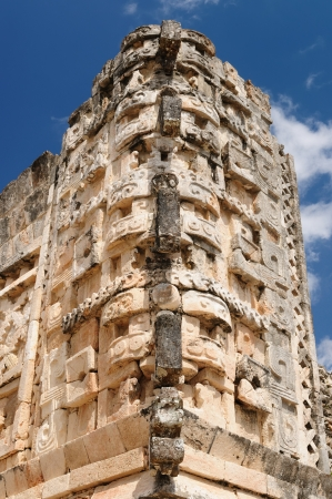 Mexico, Uxmal Maya ruins is the archaeological site of greatest relevance in the Puuc Route. Renowned for the beautiful friezes of its buildings facades, created with small stones perfectly polished