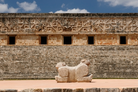 relevance: Mexico, Uxmal Maya ruins is the archaeological site of greatest relevance in the Puuc Route. Renowned for the beautiful friezes of its buildings facades, created with small stones perfectly polished