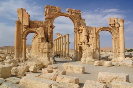Syrië, Stad van Palmyra Stockfoto - 22865637