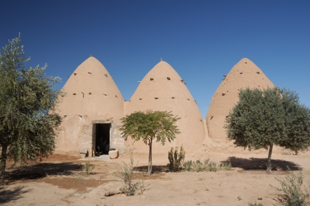 Syria, village - old clay house photo