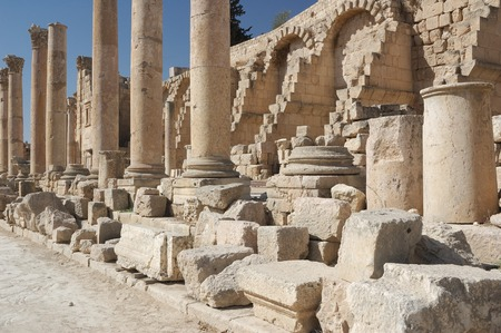 unesco world cultural heritage: Jarash the roman old city in Jordan  Stock Photo
