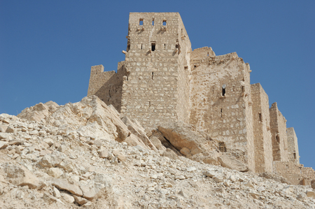 architectural heritage of the world:  Palmyra city on the desert -  ruins of the 2nd century AD