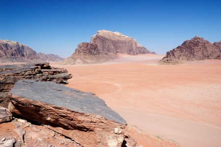 Jordan - Wadi Rum rock desert  photo
