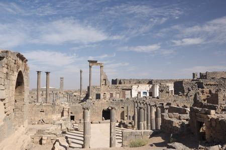 Basra old city on the desert, Syria  Stock Photo