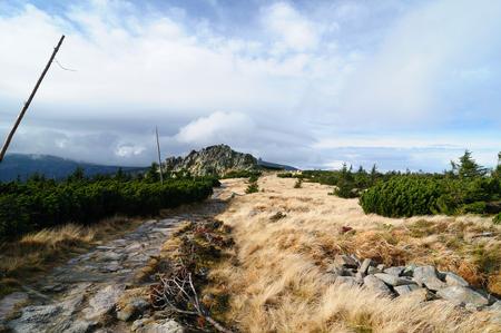 A hiking trail - karkonosze mountains in Poland  Mountain chalet - Odrodzenie photo