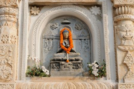 Mahabodhy Buddhist temple in Bodhgaya, Bihar, India   photo