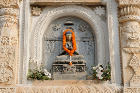 banian: Mahabodhy Buddhist temple in Bodhgaya, Bihar, India