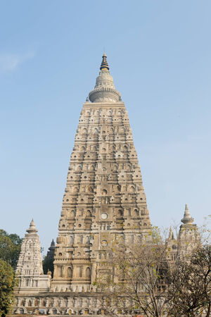 Mahabodhy Buddhist temple in Bodhgaya, Bihar, India Stock Photo - 24201454