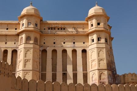 jagmandir: Beautifoul Amber Fort near Jaipur city in India  Rajasthan