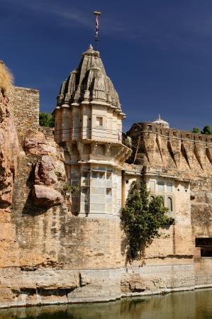 jagmandir: Beautifoul Fort Chittor in  Chittorgarh, India  Rajasthan  Sammidheshwar temple