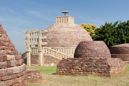 bhopal: Stupa budista en Sanchi, Madhya Pradesh, India