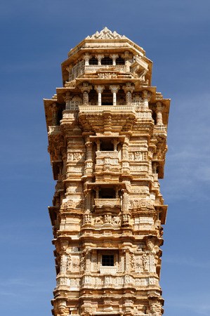 jagmandir: Beautifoul Fort Chittor in  Chittorgarh, India  Rajasthan  Jaya stambha Stock Photo