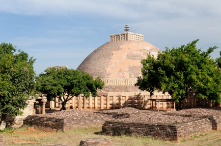 bhopal: Gran Stupa budista en Sanchi, Madhya Pradesh, India