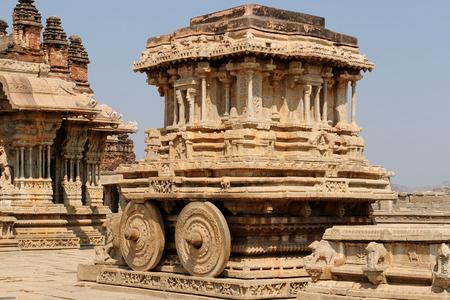 beautifull: Vittalla temple in Hampi, Chariot, Karnataka, India Stock Photo