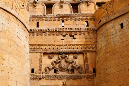 Beautiful Fort in Jaisalmer city on the deser in India  Rajasthan