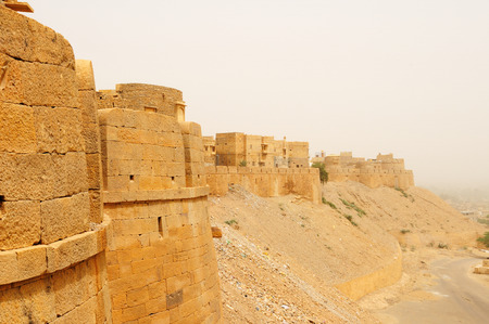Beautiful Fort in Jaisalmer city on the deser in India  Rajasthan photo