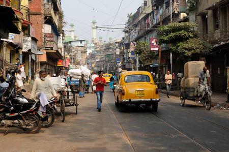 bustling: KOLKATA, INDIA - DECEMBER 06  Hindu bustling street in Kolkata, Kolkata in December 06, 2010 Editorial