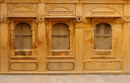 maharaja: Richly decorated houses of merchants from India in the Rajasthan state