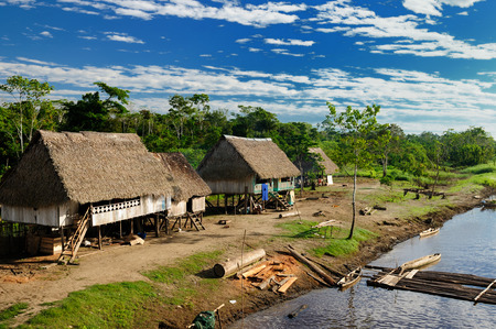 Amazonas landscape  The photo present typical indian tribes , Brazil photo