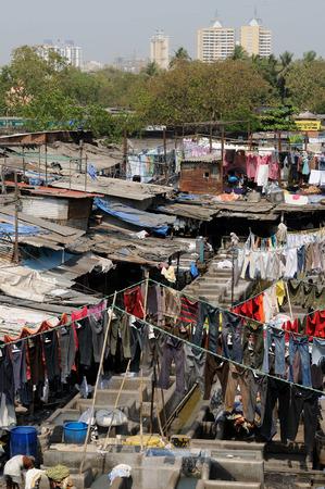 dhobi ghat: MUMBAI, INDIA - MARCH 25   People at Dhobi Ghat, the world
