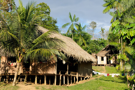 Amazonas landscape  The photo present typical indian tribes , Colombia