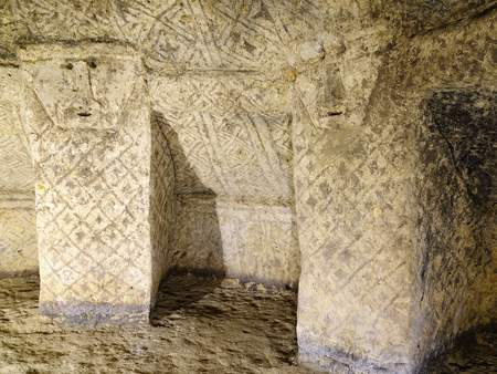 pre columbian: Tierradentro  7th and 9th  is one great pre Columbian attractions  There are burial caves painted with red, black and whte geometric patterns  Some are shallow, others up to 8m deep, Colombia
