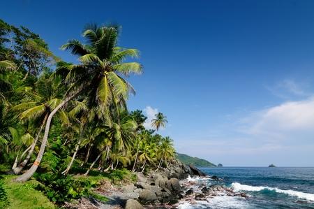 Colombia, wild coast of the Caribbean sea photo