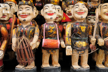 Puppets of the water theater in Hanoi Stock Photo