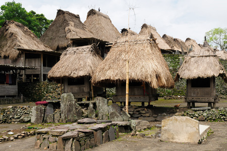 flores: Ethnic straw village on the Indonesian island on the Flores island