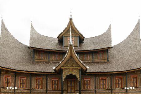 sumatra: Indonesia countryside on the West Sumatra island near Bukittinggi city resort. Traditional old Dutch house