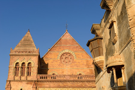 gujarat: Eighteenth-century palace  Aina Mahal partly destroyed during an earthquake in the Bhuj town in Gujarat. India