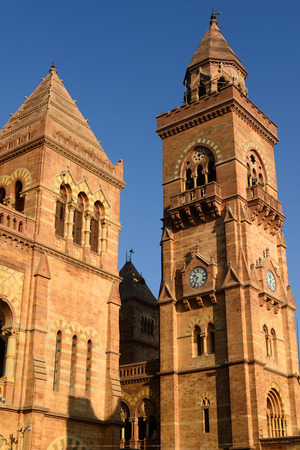 gujarat: Aina Mahal palace Eighteenthcentury partly destroyed during an earthquake in the town of Bhuj in Gujarat. India Editorial