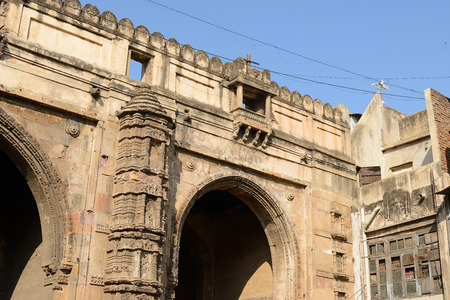 gujarat: Historic building in Ahmadabad town in the Indian state of Gujarat Editorial