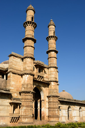 rajhastan: Champaner - Pavagadh Archaeological Park is a historical city in the state of Gujarat. Sahar ki Masjid mosque. UNESCO