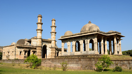 monument in india: Champaner - Pavagadh Archaeological Park is a historical city in the state of Gujarat. Kevda Masjid mosque.