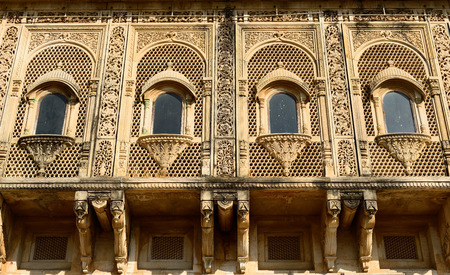 rajput: Typical example of Indian architecture in the state Gujarat