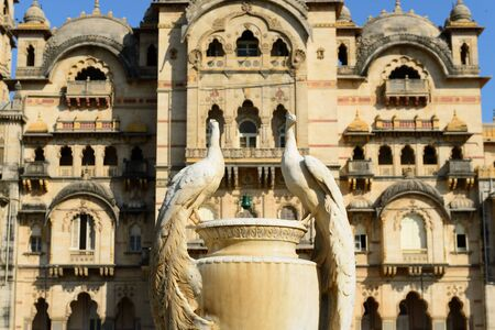 gujarat: Typical example of Indian architecture in the state Gujarat