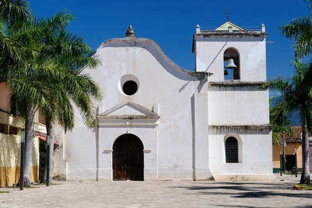 middle america: Honduras, View on the colonial San Fransisco church in Comayagua city in In Middle America Stock Photo