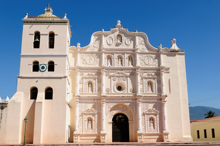 middle america: Honduras, View on the colonial Cathedral of Comayagua in Comayagua city in In Middle America