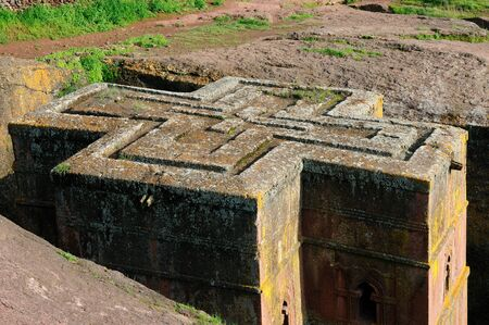 george: St. George Church carve in solid rock in Lalibela, Ethiopia