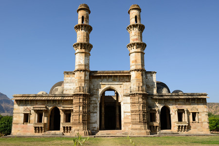 rajhastan: Champaner - Pavagadh Archaeological Park is a historical city in the state of Gujarat. Kevda Masjid mosque. UNESCO