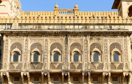 rajhastan: Typical example of Indian architecture in the state Gujarat