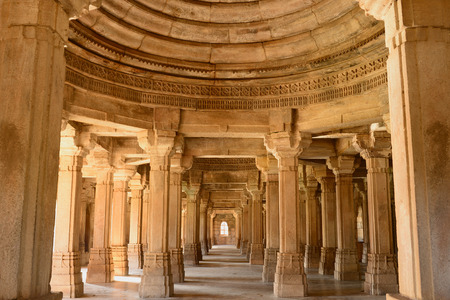 gujarat: Champaner - Pavagadh Archaeological Park is a historical city in the state of Gujarat. Kevda Masjid mosque. UNESCO.Inside the Sahar ki Masjid