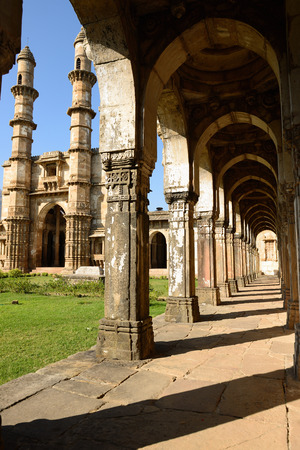 gujarat: Champaner - Pavagadh Archaeological Park is a historical city in the state of Gujarat. Sahar ki Masjid mosque. UNESCO