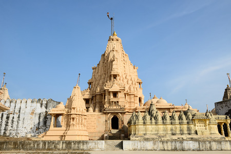 gujarat: Jain temples on the holy Palitana top in the Gujarat state in India Stock Photo