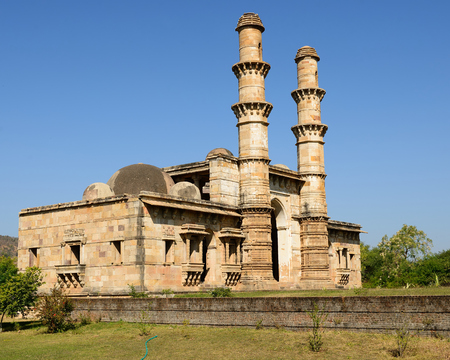 gujarat: Champaner - Pavagadh Archaeological Park is a historical city in the state of Gujarat. Kevda Masjid mosque.  Stock Photo