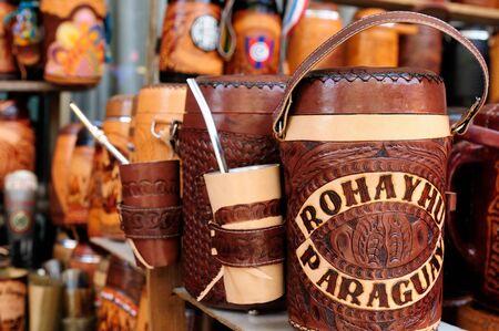 yerba mate: La yerba mate taza de Paraguay, Am�rica del Sur
