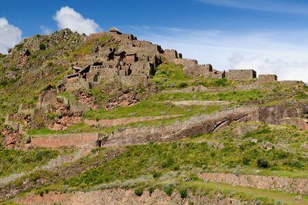 pisaq: Pisac Pisaq - Inca ruins in the sacred valley in the Peruvian Andes, Peru